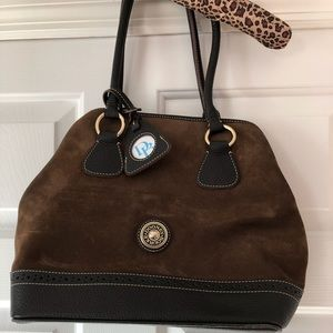 Dooney and Bourke Suede and Leather Satchel